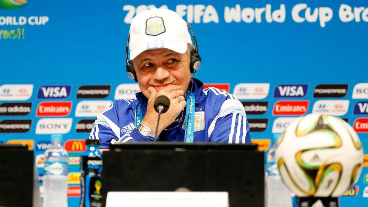 Argentina head coach Alejandro Sabella's defence have limited opponents to just three goals scored in the World Cup.