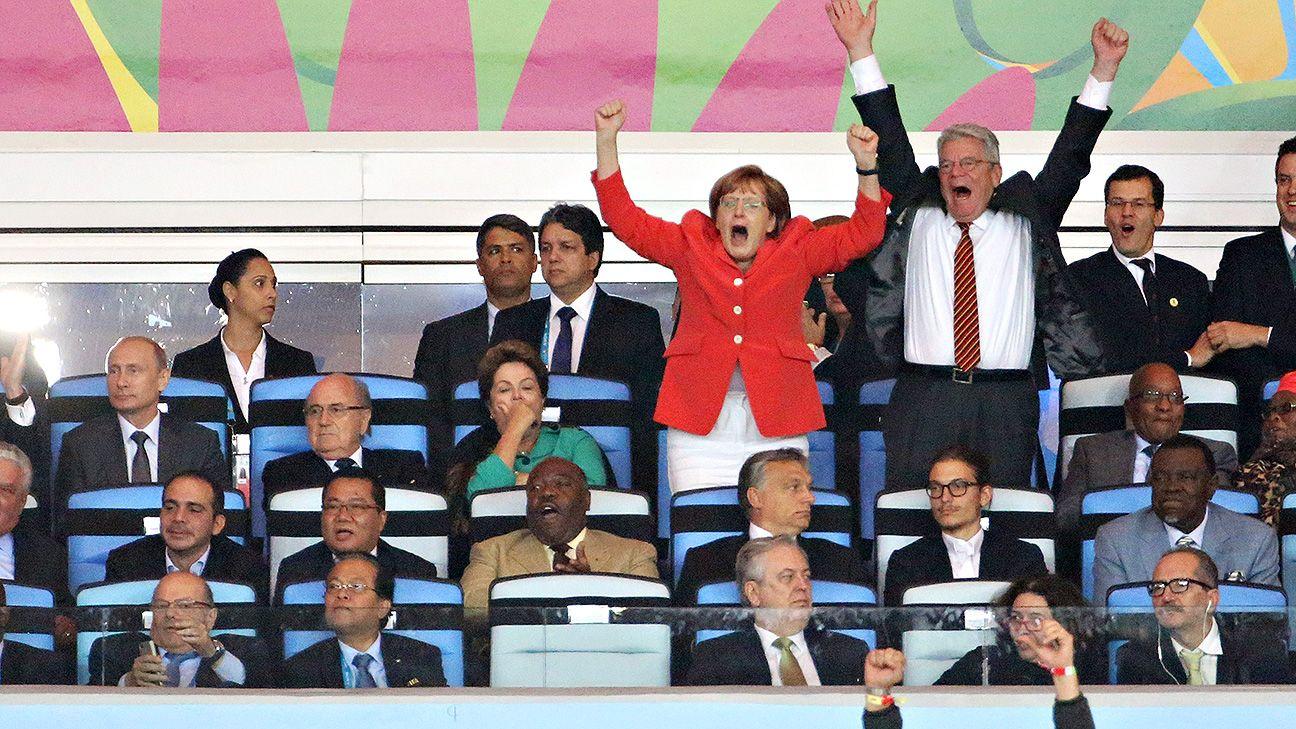 German chancellor Angela Merkel and German president Joachim Gauck took their chance to celebrate.