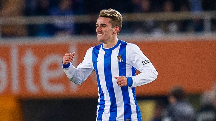 Reports have Real Sociedad's Antoine Griezmann heading to Monaco to replace James Rodriguez.