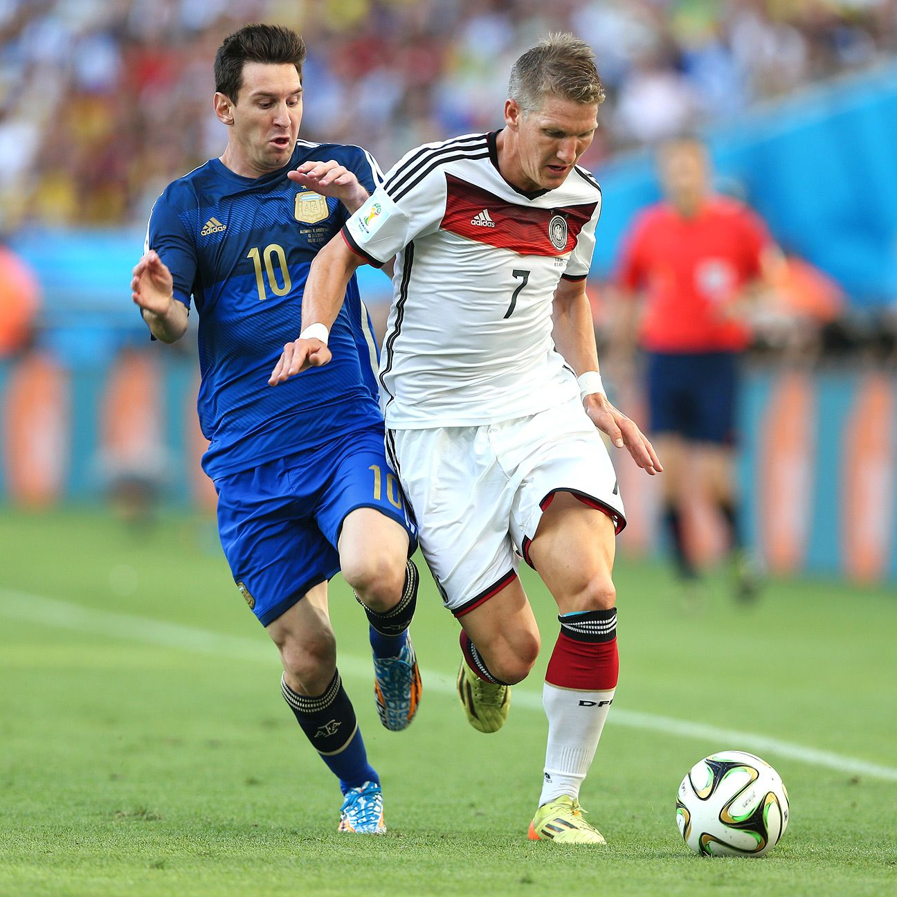 With Khedira injured and Kramer forced off early, Schweinsteiger calmly guided Germany to victory.