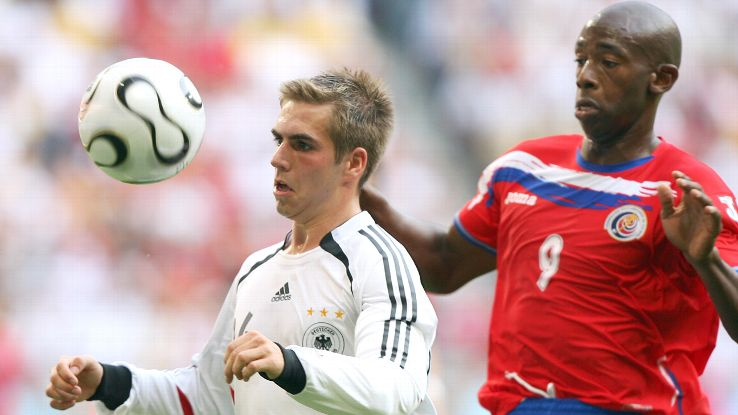 Lahm debuted for Germany back in 2004 but caught attention with a superb goal vs. Costa Rica at the 2006 World Cup.
