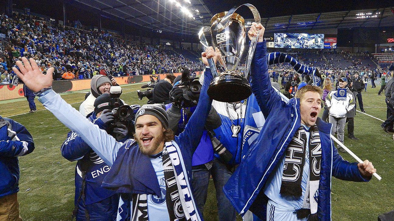Newly minted Designated Players Graham Zusi, left, and Matt Besler will look to bring home another MLS Cup to Sporting Kansas City.