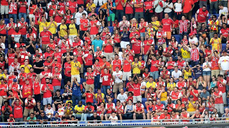 Arsenal fans turned out in force as part of a convivial atmosphere at Red Bull Arena.