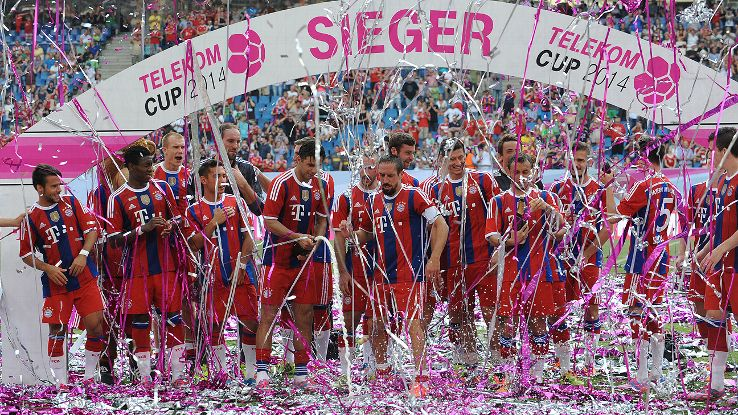 Bayern struggled at times but still came away with the Telekom Cup.