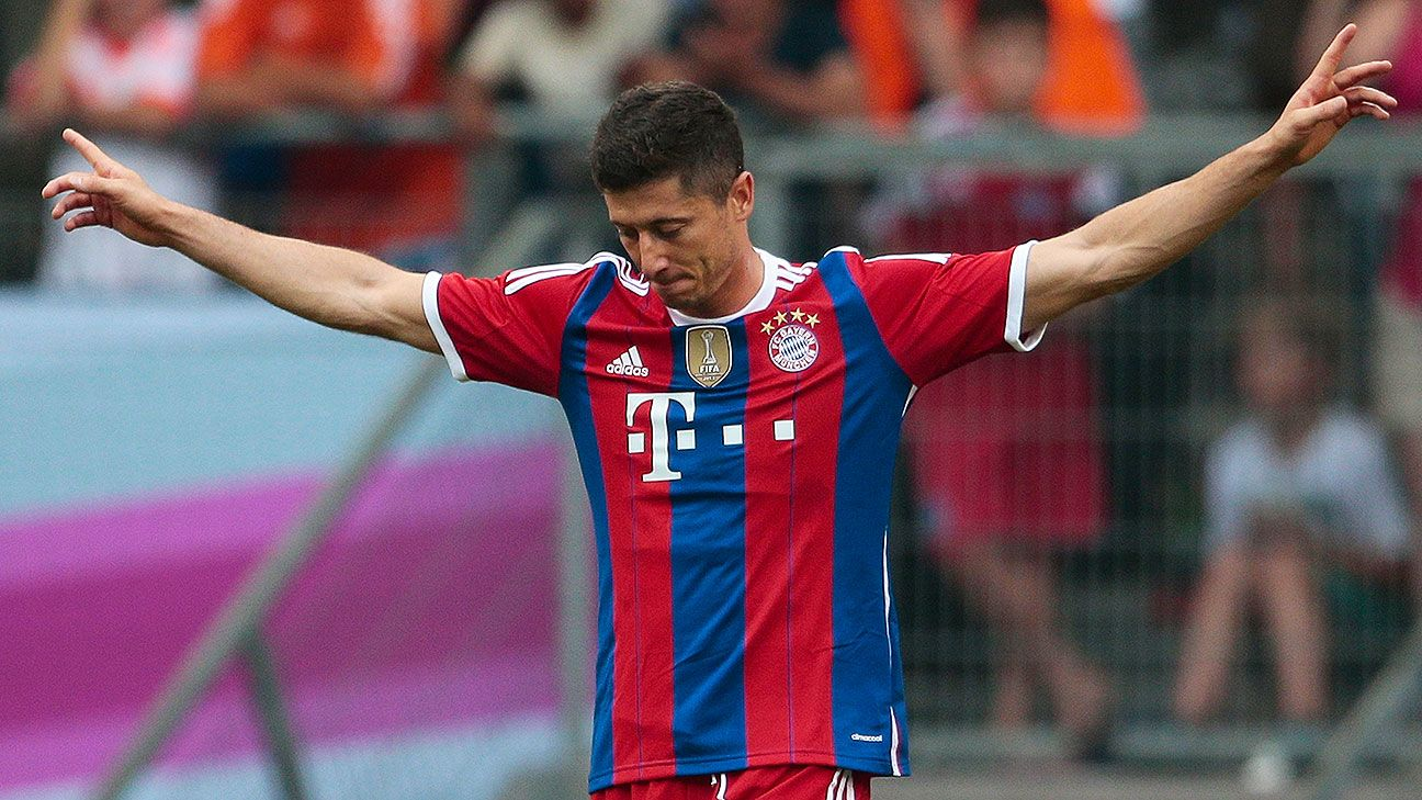 Robert Lewandowski showed why he has replaced Mario Mandzukic up front for Bayern.