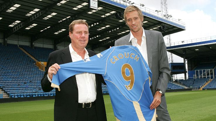 Peter Crouch had several reunions with Harry Redknapp over time.