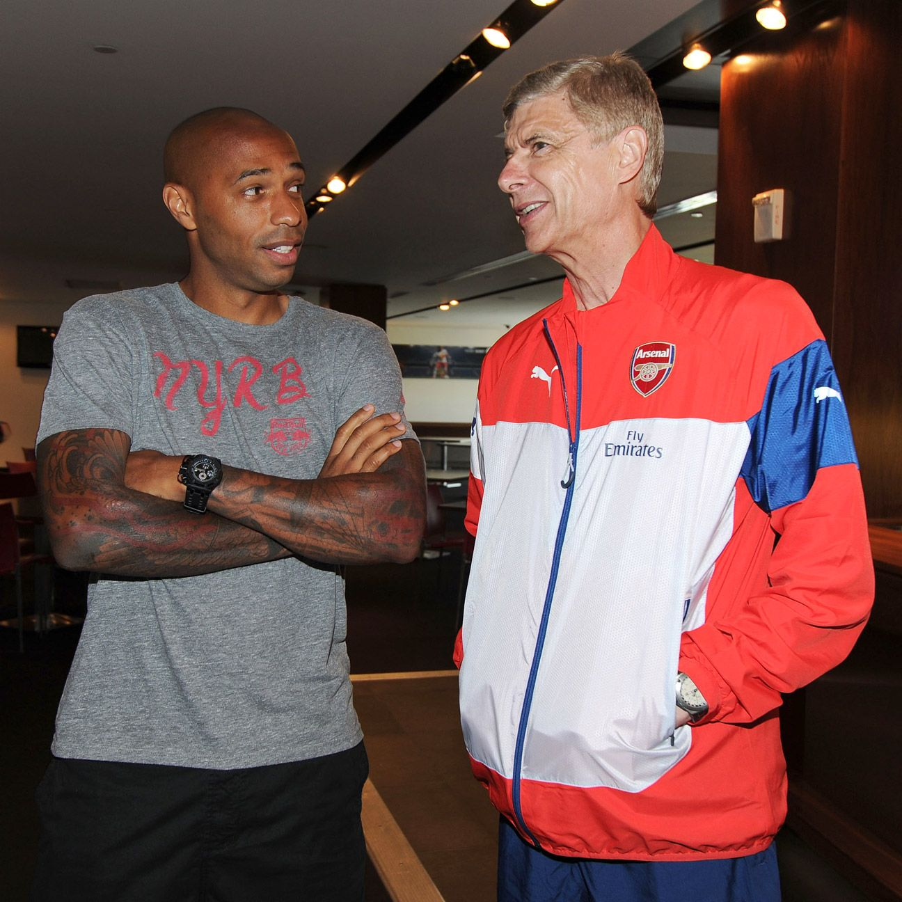 Thierry Henry worked under Arsene Wenger at Monaco and Arsenal.