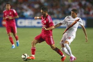 Isco, left, and the Real Madrid attack were unable to breath through against Roma on Tuesday night.