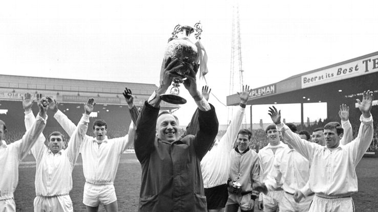 Joe Mercer guided Manchester City to many a trophy in the late 1960's.