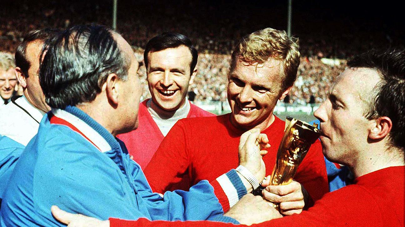 England's lone World Cup triumph came with Bobby Moore as captain in 1966.