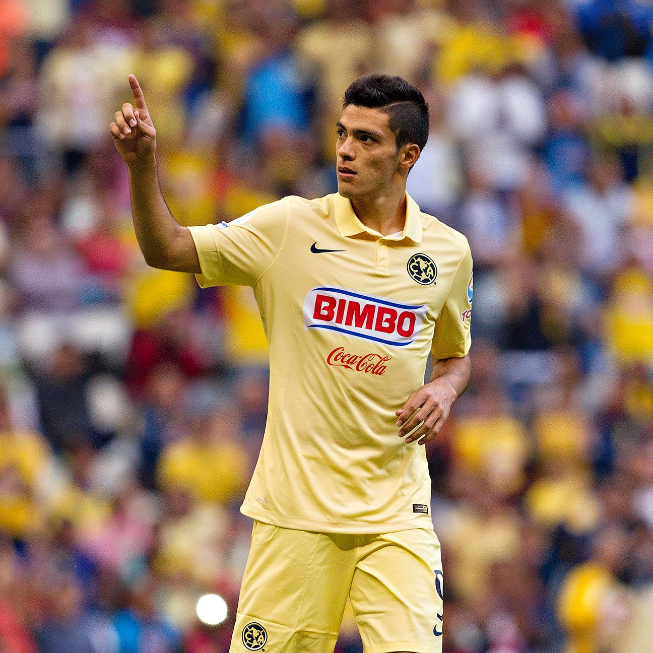 Club America striker Raul Jimenez is one of several Mexican players on the verge of moving to Europe.