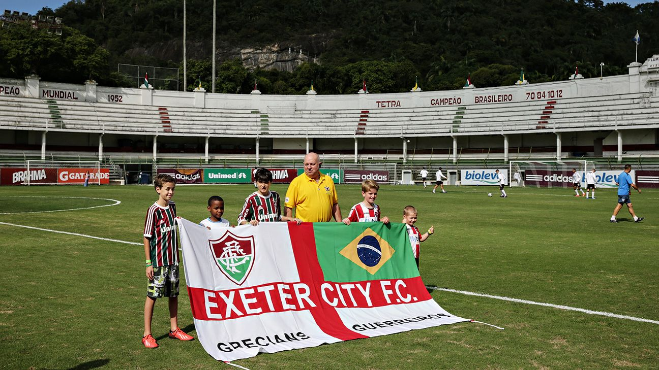 Exeter toured Brazil 100 years ago in a bid to spread love for the game. The same isn't true in 2014.
