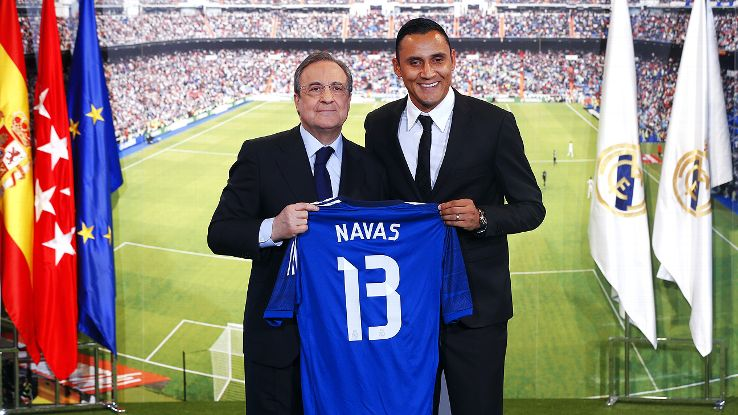 Navas is not coming to Real Madrid to serve as Casillas' understudy.