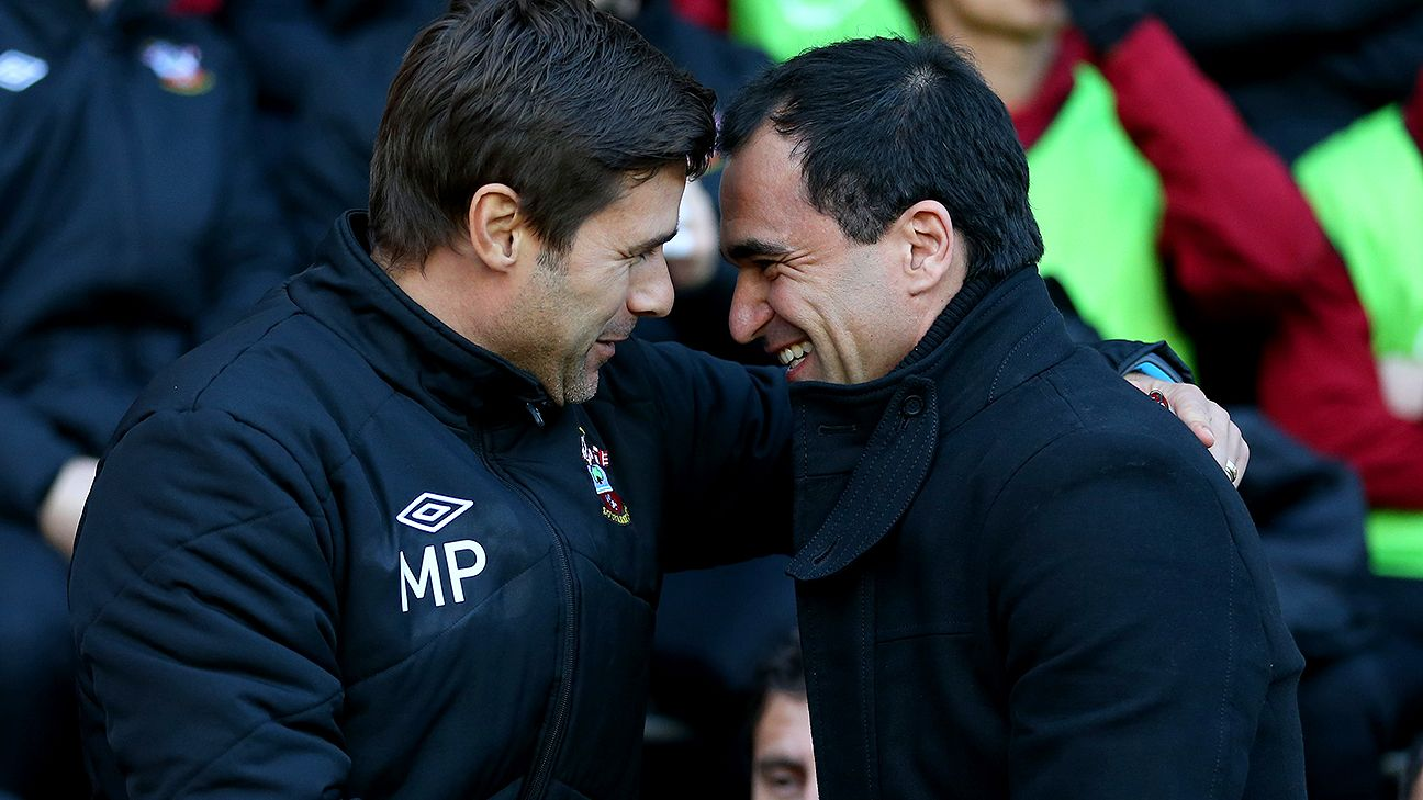 Spurs boss Mauricio Pochettino and Everton manager Roberto Martinez each like their teams to win the possession game, but with differing methods.