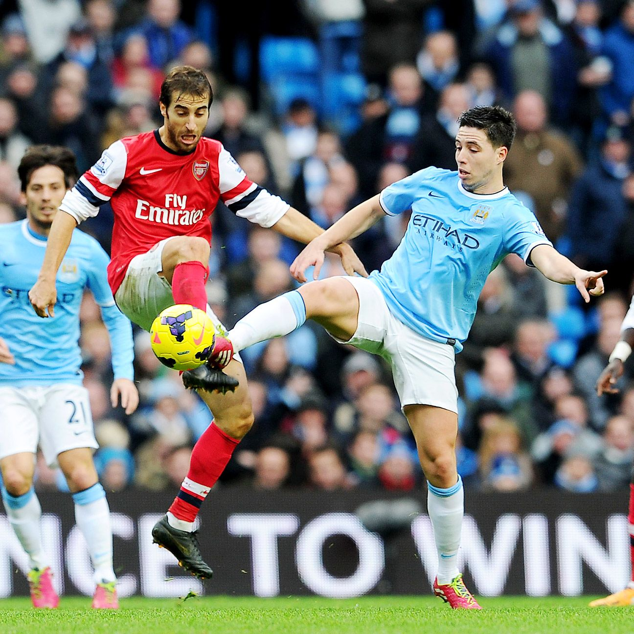 Mathieu Flamini, left, and Arsenal square off against Samir Nasri's Manchester City in Sunday's Community Shield.