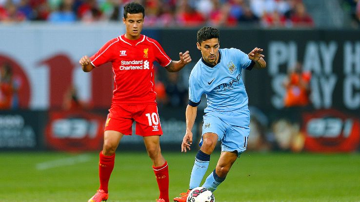 Last season's top two will meet in late August as Jesus Navas and Manchester City host Philippe Coutinho and Liverpool.