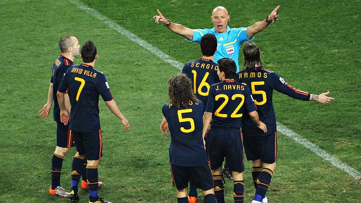 The 2010 World Cup final is viewed as Webb's nadir, but that's the life of a referee.