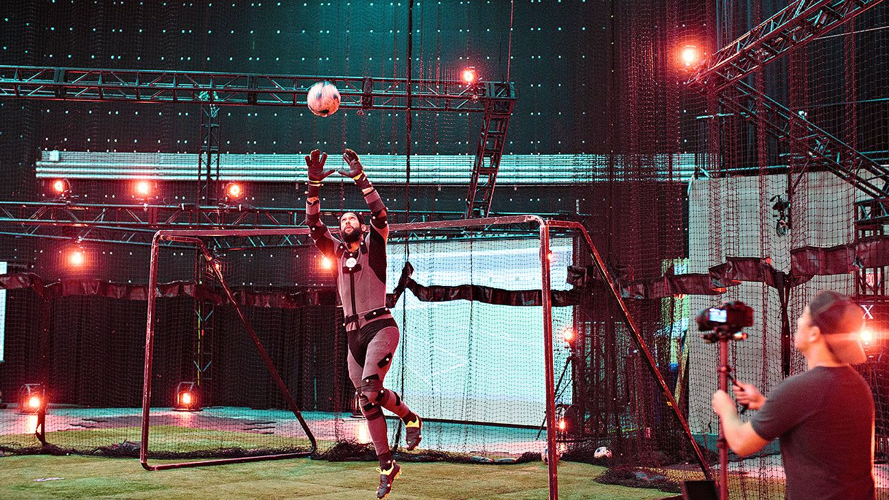 EA Sports used over 100 cameras to record Howard's every goalkeeping motion.