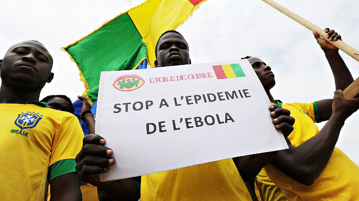 Members of the Guinea youth football team L'Etoile de Guinee made a plea to stop the Ebola epidemic earlier this week.