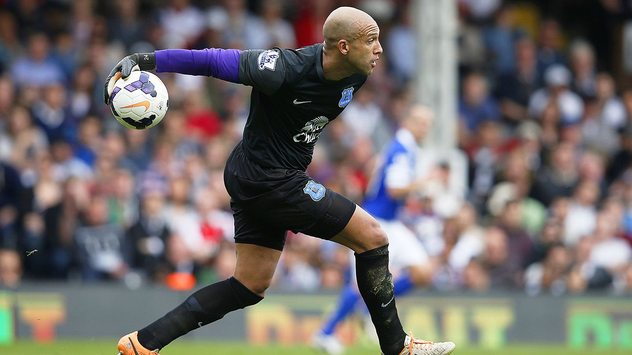 Tim Howard and the Everton defence kept the Toffees in many matches away from Goodison Park last season.