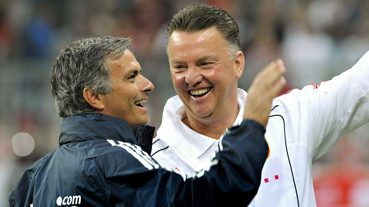 Van Gaal and Mourinho have a long rapport but that friendship is set aside this season.