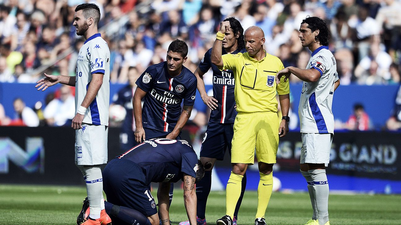 Zlatan Ibrahimovic's early injury overshadowed PSG's 2-0 triumph over Bastia.