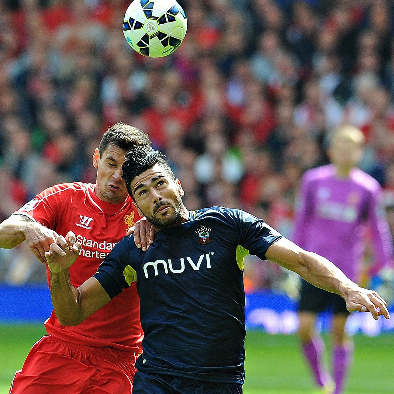Lovren, left, is a much-needed upgrade at the back for Liverpool.