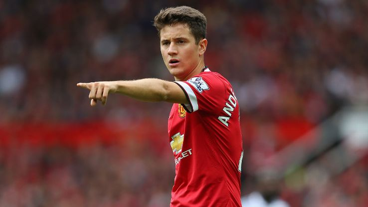 Summer arrival Ander Herrera has started just six matches this season in the Premier League.