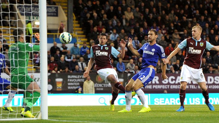 Branislav Ivanovic completed what turned out to be a comfortable win for Chelsea at Turf Moor.