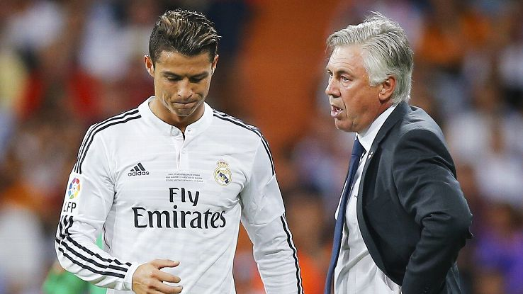 Carlo Ancelotti has primarily used a 4-3-3 at Real Madrid with Ronaldo deployed out wide on the left.