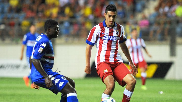 Atletico fans got their first glimpse of Raul Jimenez in a Rojiblanco shirt in a friendly versus Sampdoria.