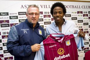 Paul Lambert has turned to Colombian Carlos Sanchez to fortify the Aston Villa midfield.