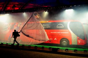 The Bayern Munich bus was unveiled in dramatic fashion.