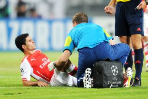Mikel Arteta's injury was another spell of bad luck for an already-thin Arsenal midfield.