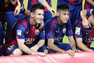 Lionel Messi and Neymar will soon welcome in Luis Suarez into the fold as part of Barcelona's attack.