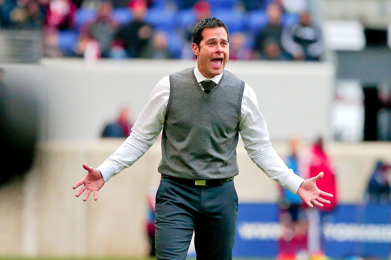Real Salt Lake's Mike Petke a picture of anger in postmatch news conference
