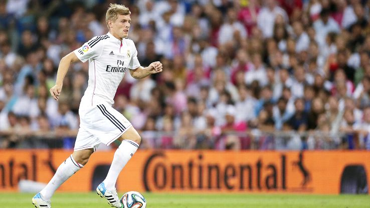 Midfielder Toni Kroos was barely rested during the 2014-15 season, starting 36 of Real Madrid's 38 La Liga matches.