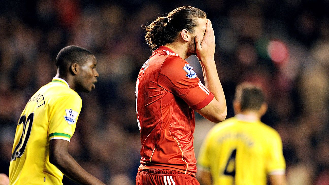 The image of Andy Carroll lamenting a miss rather than celebrating a goal was an all-too-familiar sight for Liverpool supporters.