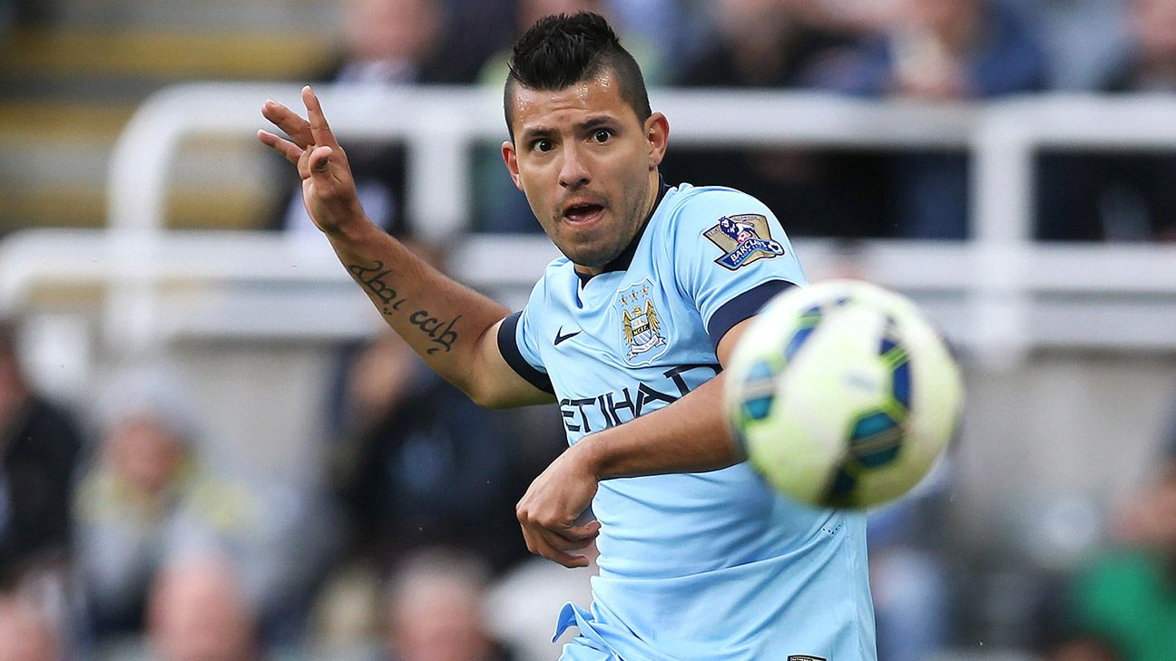 Manchester City's Sergio Aguero has collected two goals in two games.
