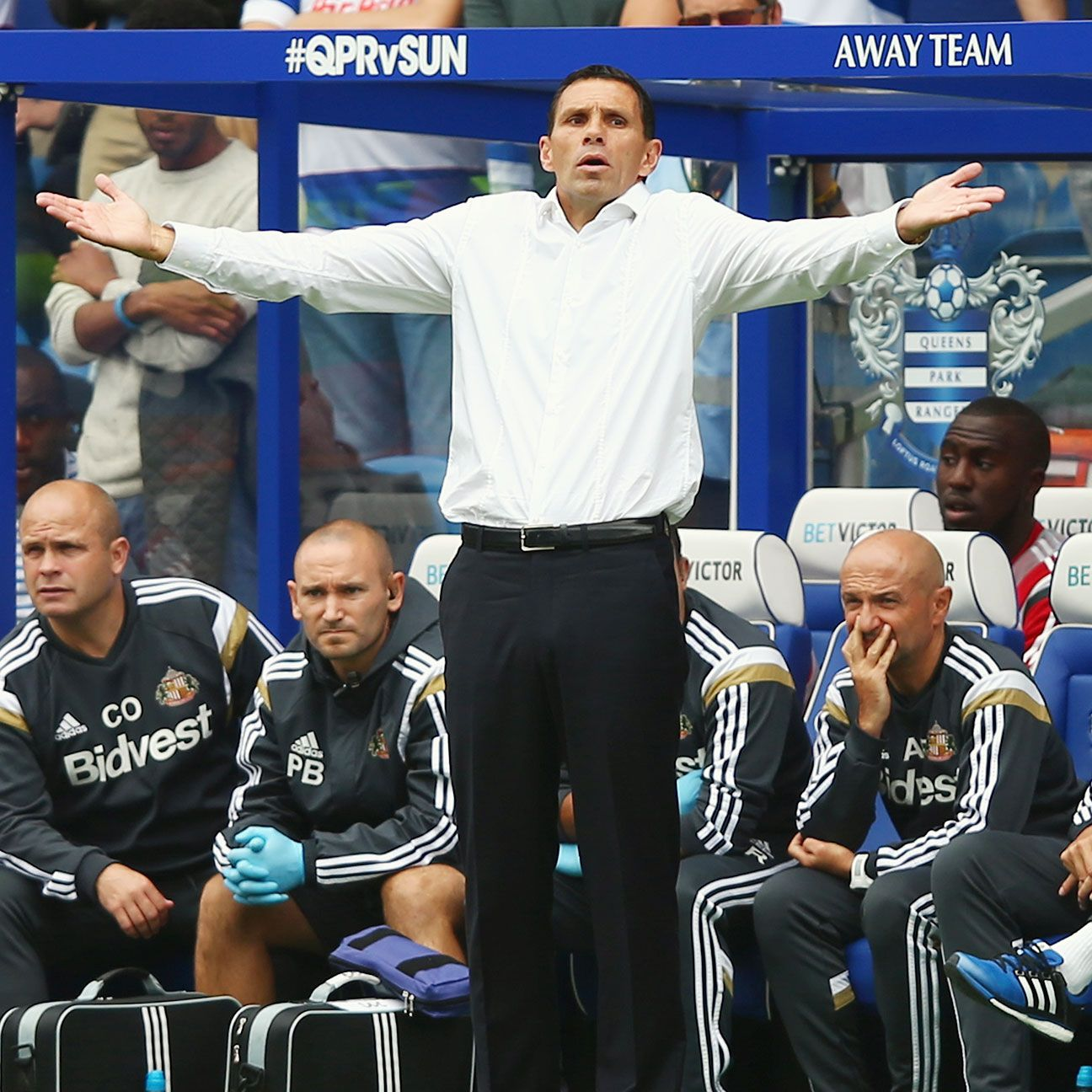 Sunderland manager Gus Poyet will have two weeks to stew over Saturday's loss to QPR.