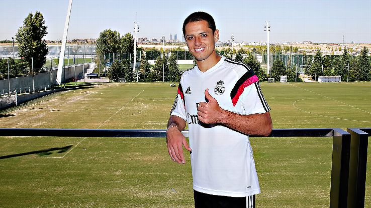 Chicharito Hernandez has been all smiles since his arrival to Real Madrid.