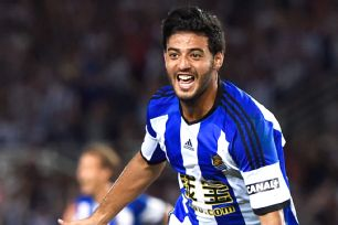 Carlos Vela chipped in with a goal in Real Sociedad's 4-2 upset of Real Madrid.