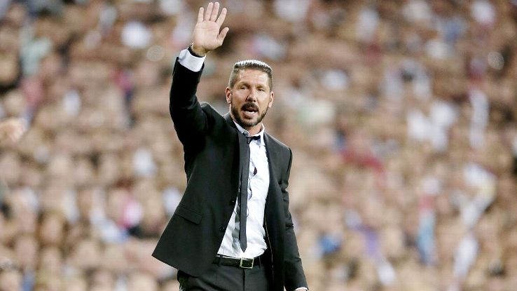 Atletico Madrid have collected a trophy in each of Diego Simoene's seasons as manager.