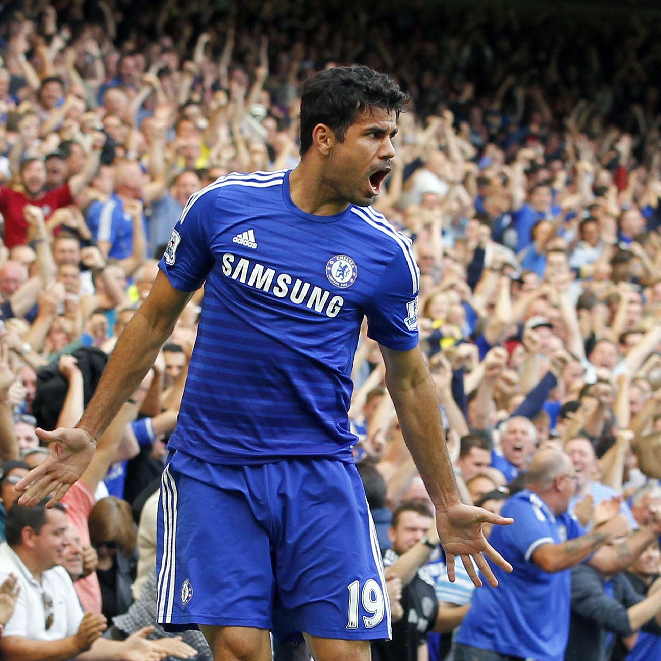 Chelsea's Diego Costa just keeps piling on the goals in his first Premier League season.