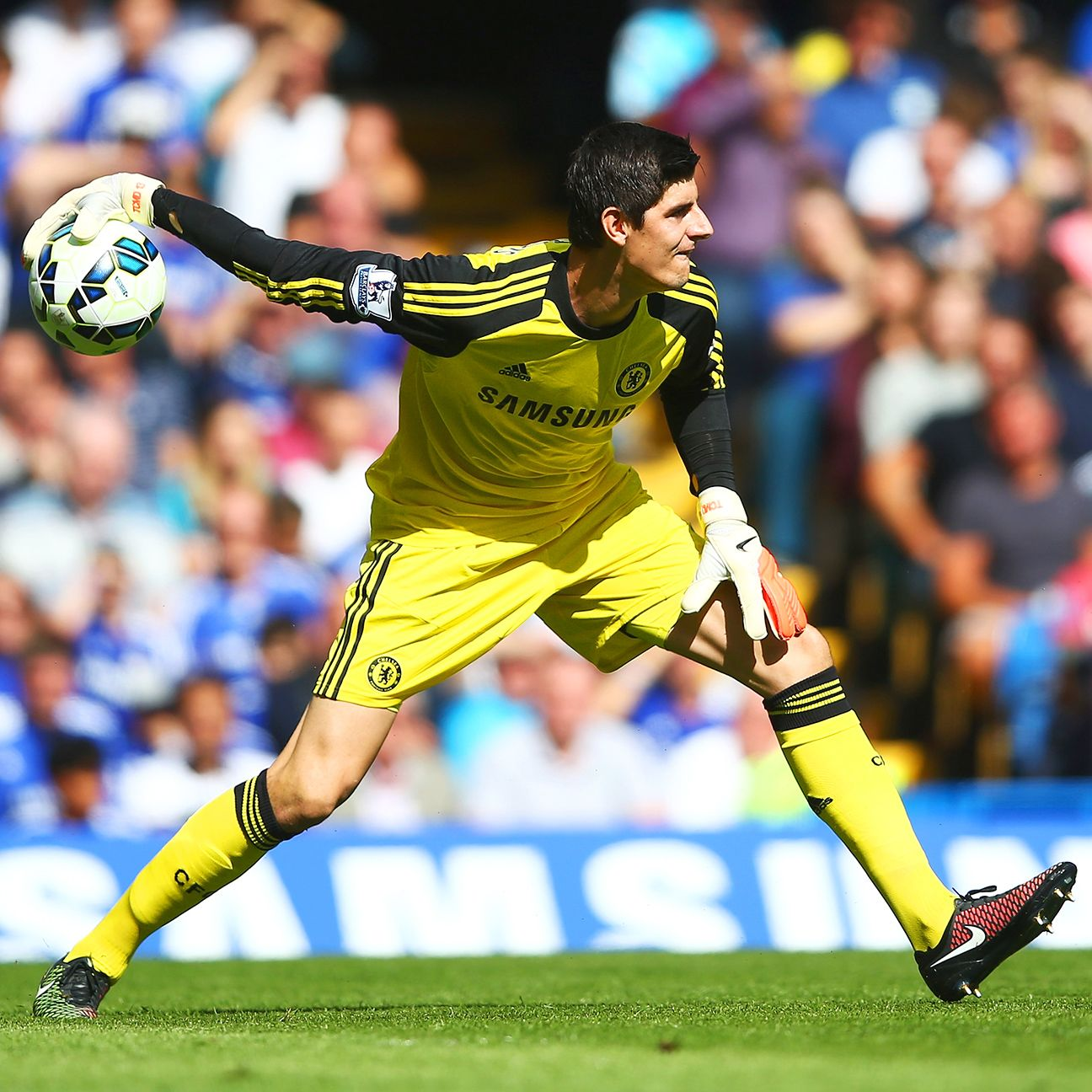 Thibaut Courtois won the Chelsea starting goalkeeping spot over long-time incumbent Petr Cech.