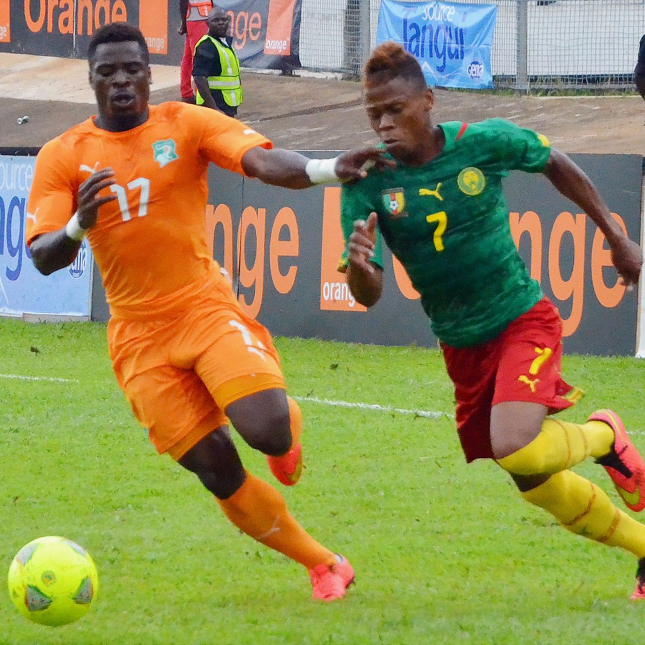 Clinton N'jie, right, has been a revelation for Cameroon in their African Nations' Cup qualifiers.