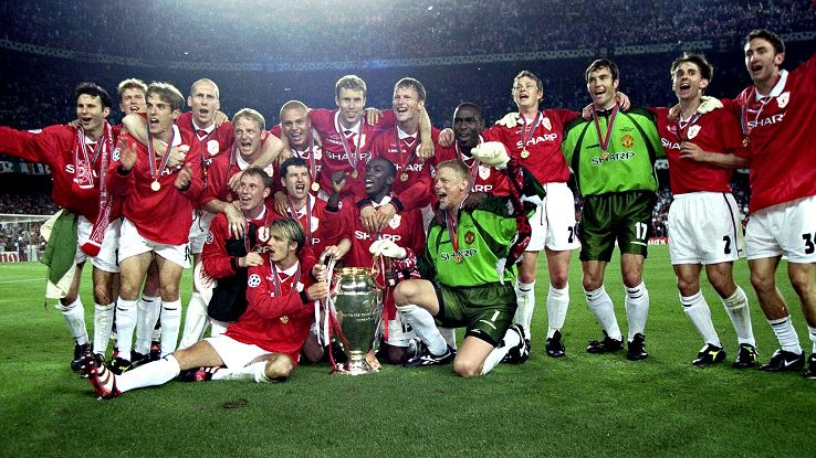 Manchester United won the Treble in 1999 but couldn't make it four for four.