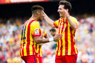 Lionel Messi assisted on both of Neymar's goals in Barcelona's 2-0 win over Athletic Bilbao.