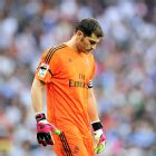 Iker Casillas head his share of whistles upon leaving the Bernabeu turf following Real's 2-1 defeat to Atletico.