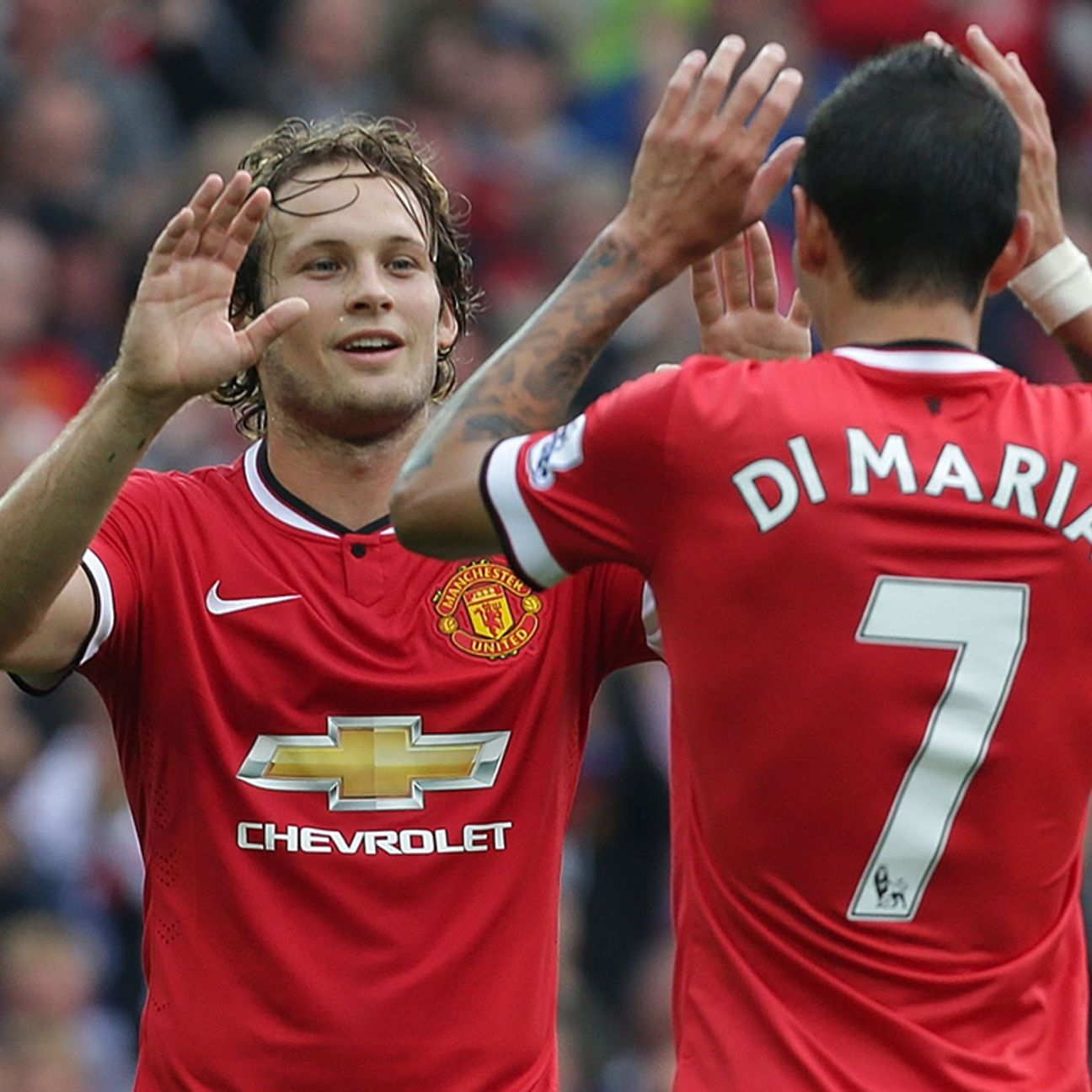 Daley Blind says Angel Di Maria reminds him of Arjen Robben